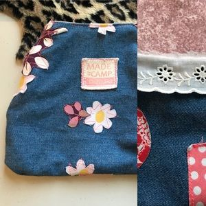PLEASE BUNDLE❣️Hand Sewn @Camp Couture ZIP Pouch
